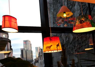 Installation Lampenfieber