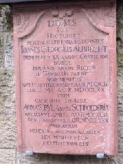 Inschrift für Johann Georg Albrecht, Goethes Privatlehrer und Direktor der ehemaligen Frankfurter Lateinschule