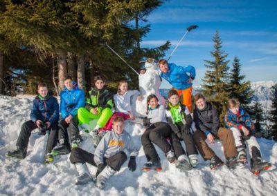 Skigruppe um Andreas Hubracht