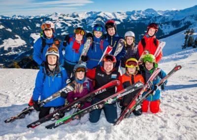 Skigruppe um Andreas Strothjohann