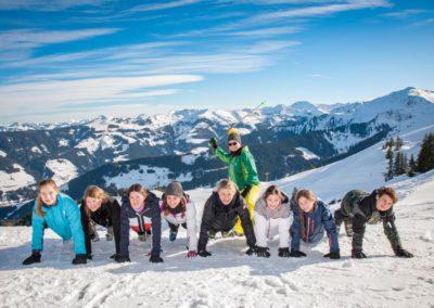 Skigruppe um Christina Schücking