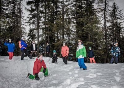 Skigruppe um Christopher Aschke