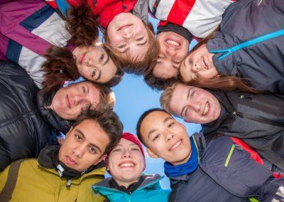 Skigruppe um Katharina Jung