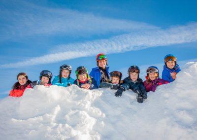 Skigruppe um Louisa Wagner