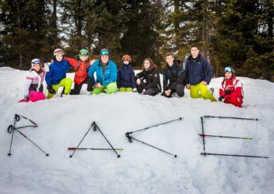 Skigruppe um Manfred Lanner