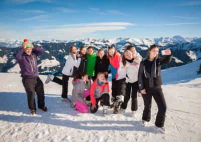 Skigruppe um Marc Niedenführ