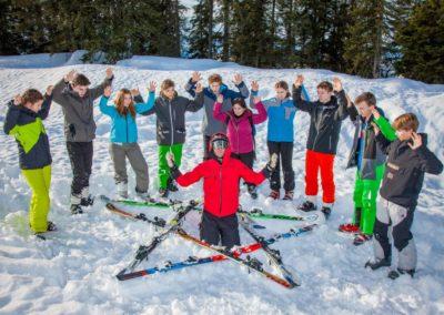 Skigruppe um Nicolaus Willius
