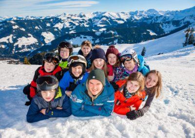 Skigruppe um Nikolas Fendel