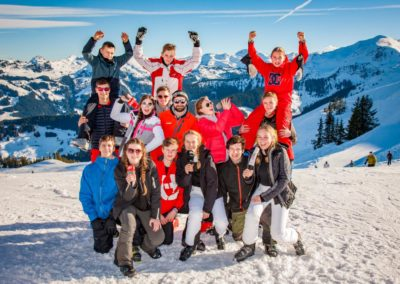 Skigruppe um Peter Schaefer