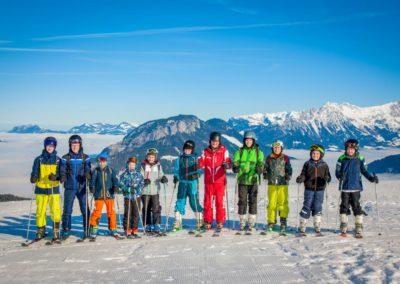 Skigruppe um Sepp Seisl