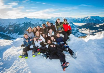 Skigruppe um Simon Vitzthum