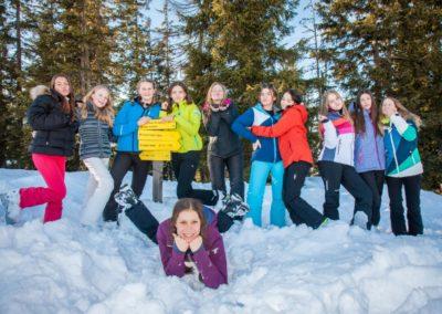 Skigruppe um Susanne Edelbluth