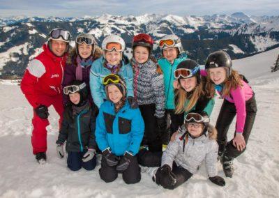 Skigruppe um Tijmen Schuil