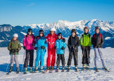 Skigruppe um Walter Margreiter