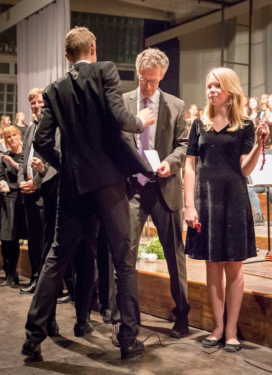 Verabschiedung der Abiturienten aus dem Chor und Orchester
