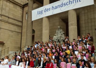 Gruppenfoto mit Veranstaltern (Rose-Lore Scholz, Prof. Dr. Lorz, Christian Boehringer, Dr. Klar)