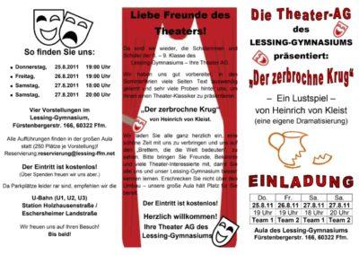 August 2011 Der zerbrochene Krug (Regie Mareike Kuntz)