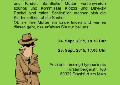 September 2015 Kommissar Klotzigs schlimmster Fall (Regie Pia Sennert)