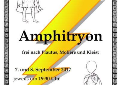 September 2017 - Amphitryon (Regie Mareike Kuntz)