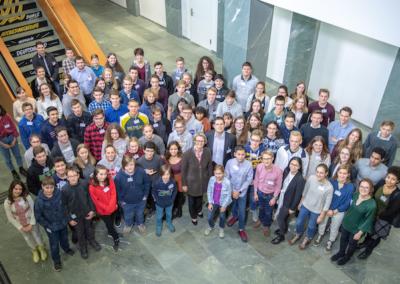 Gruppenbild zum Jugendpressetag in Berlin am 14. Dezember 2018