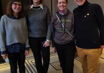 Frau Manz, Frau Dr. Eschenfelder, Frau Bohl und Herr Mieles freuen sich über das große Interesse
