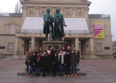 Der Deutsch LK auf den Spuren von Goethe und Schiller