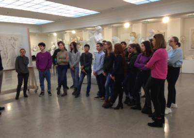 ... im Gespräch mit den Griechisch-Schülerinnen und -Schülern der E-Phasen und 8. Klassen
