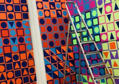 Schule trifft Galerie trifft Schule - Aufbau der Ausstellungstücke 2