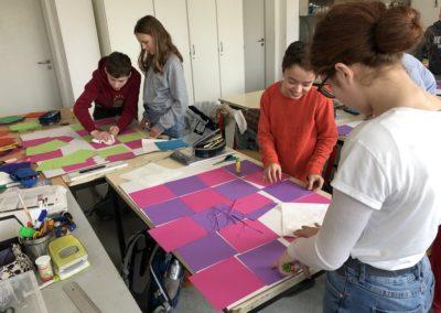 Schule trifft Galerie trifft Schule - Kunstunterricht der 7c