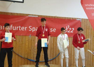 Siegerehrung mit Maximilian auf dem 1. Platz