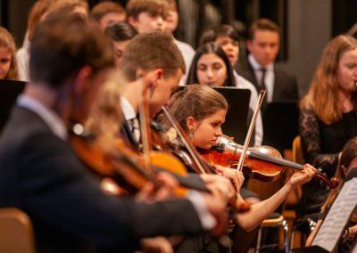 Grieg Landerkennung, Blick zum Großen Orchester bzw. Chor 5-6-7