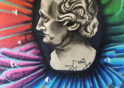 Graffiti von Goethe in Weimar