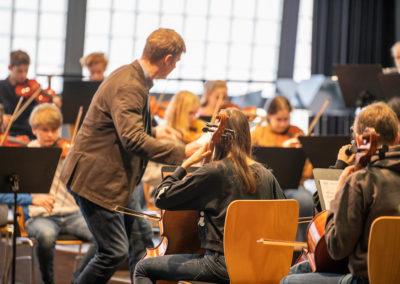 Tag der offenen Tür 2020 - Proben des Orchesters in der Aula