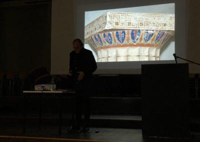 Herr Prof. Dr. Brinkmann fesselte das Publikum mit interessanten Eiblicken in die Farbigkeit antiker Skulpturen